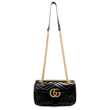 Gucci Black GG Marmont Matelasse Mini Bag