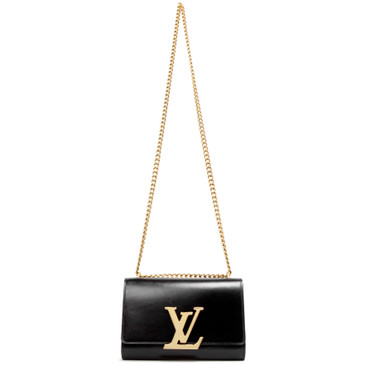 Louis Vuitton Black Calfskin Chain Louise PM