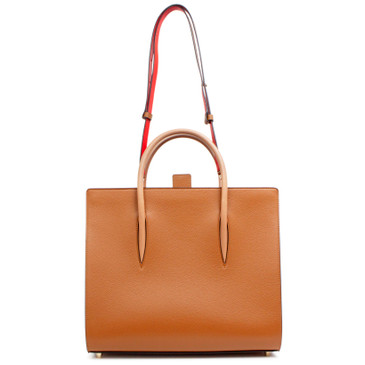 Christian Louboutin Brown Grain Leather Large Paloma