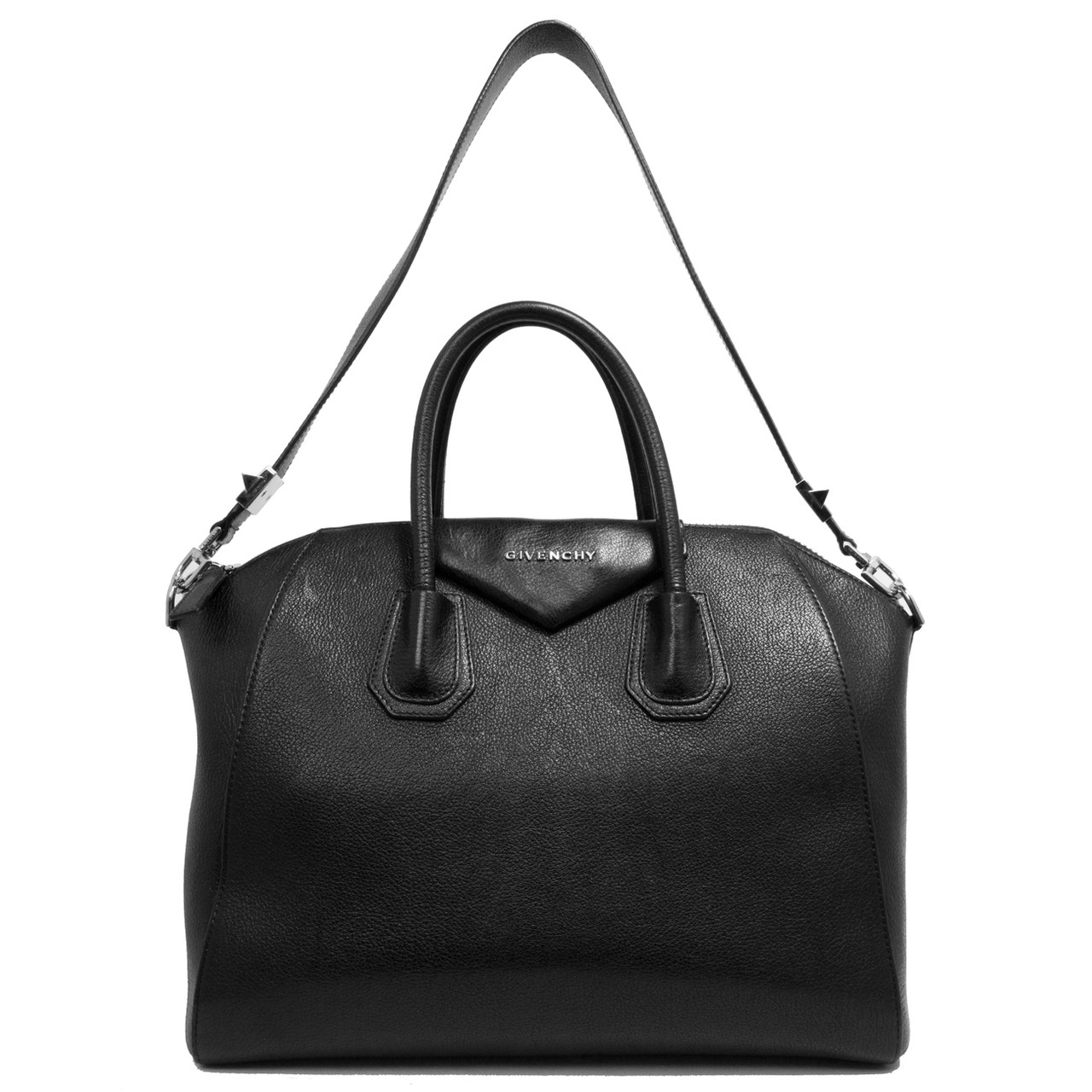 8ef175c99e3f0 Givenchy Black Sugar Goatskin Medium Antigona - modaselle