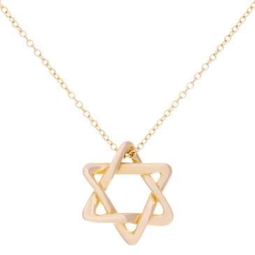 Tiffany & Co. 18K Yellow Gold Star of David Pendant