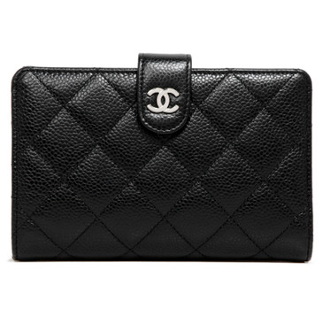 Chanel Black Caviar French Purse Wallet