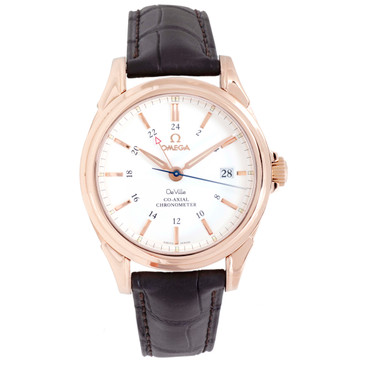 Omega 18K Rose Gold 39mm De Ville Co-Axial GMT