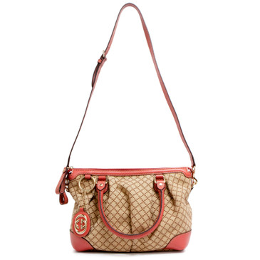 Gucci Coral Diamante Medium Sukey Top Handle Bag