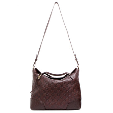 Gucci Brown Guccissima Leather Bree Top Handle Bag