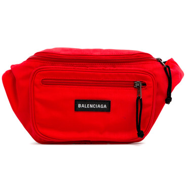 Balenciaga Red Nylon Explorer Belt Bag