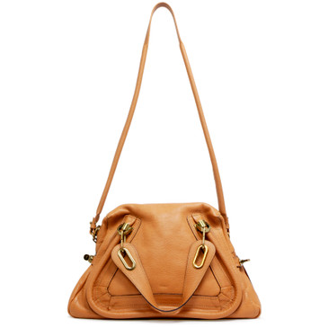 Chloe Light Tan Calfskin Medium Paraty