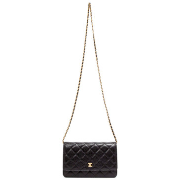 Chanel Black Caviar Wallet on Chain  WOC