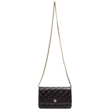 Chanel Black Caviar Wallet on Chain  WOC