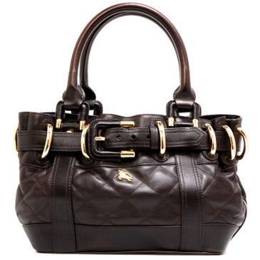 Burberry Dark Brown Calfskin Beaton Tote
