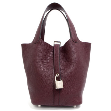 Hermes Raisin Clemence Picotin Lock 18 Bag