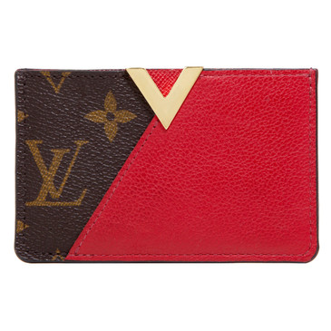Louis Vuitton Monogram Cerise Calfskin Kimono Card Holder