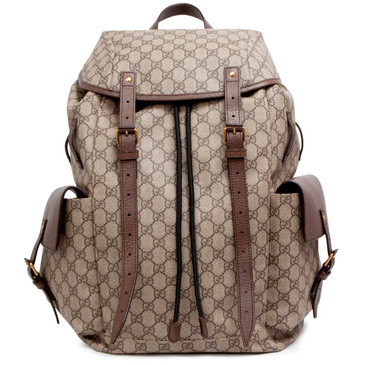 Gucci GG Supreme Monogram Flap Backpack