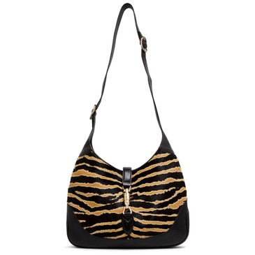 Gucci Zebra Print Pony Hair Jackie Shoulder Bag