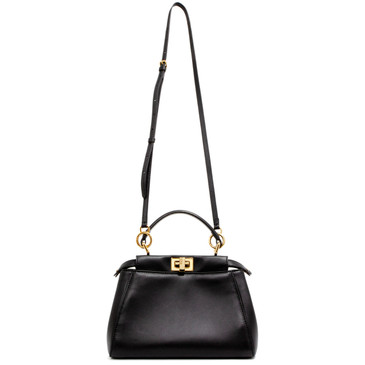 Fendi Black Nappa Mini Peekaboo