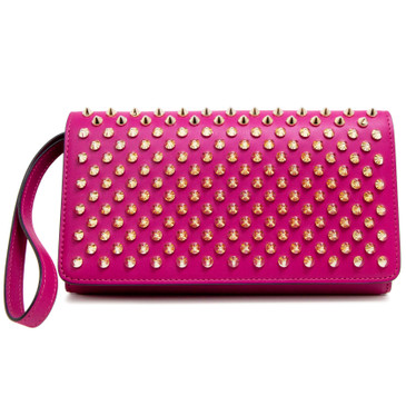 Christian Louboutin Indian Rose Macaron Spiked Wallet