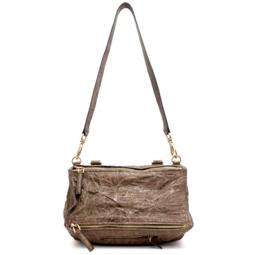 Givenchy Brown Tumbled Sheepskin Medium Pandora