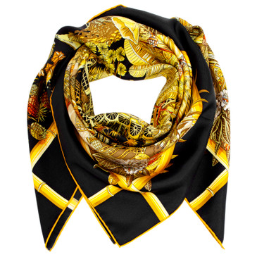 Hermes Silk Jardins D'Hiver Scarf 90