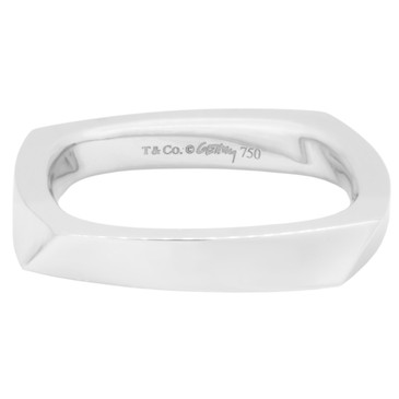 Tiffany & Co. 18K White Gold Frank Gehry Torque Ring
