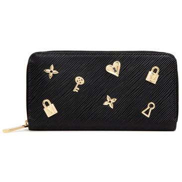Louis Vuitton Black Epi Love Lock Zippy Wallet