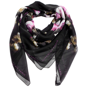 Givenchy Floral HDG Silk Scarf
