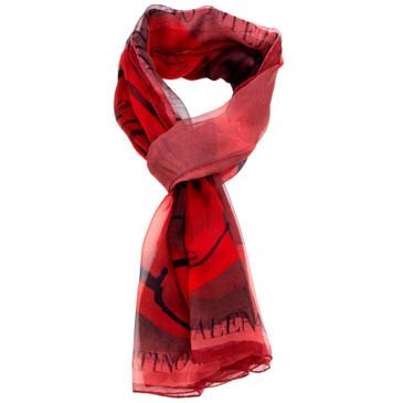 Valentino Silk Roses Scarf