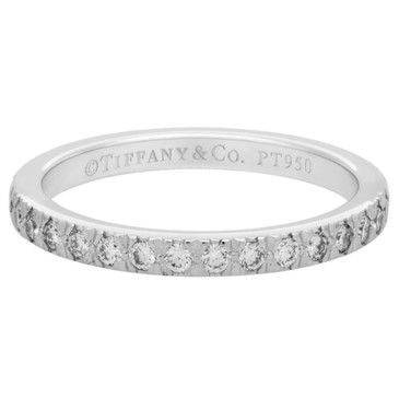 Tiffany & Co. Platinum & Diamond Eternity Band Ring