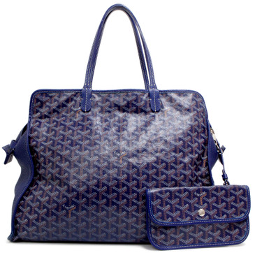 Goyard Blue Goyardine Sac Hardy Pet Carrier PM
