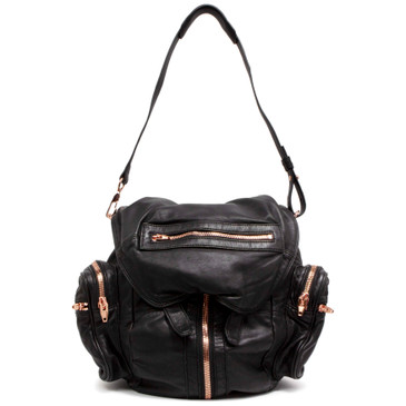 Alexander Wang Black Marti Backpack