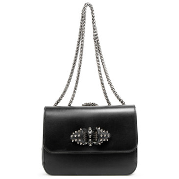 Christian Louboutin Black Calfskin Small Sweet Charity Shoulder Bag