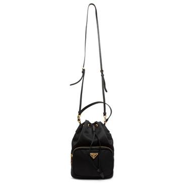 Prada Black Tessuto Mini Crossbody Bucket Bag