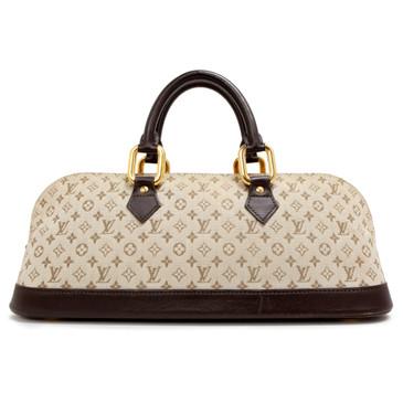 Louis Vuitton Khaki Monogram Mini Lin Horizontal Alma