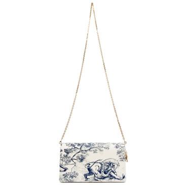 Dior Lady Dior Toile De Jouy Clutch