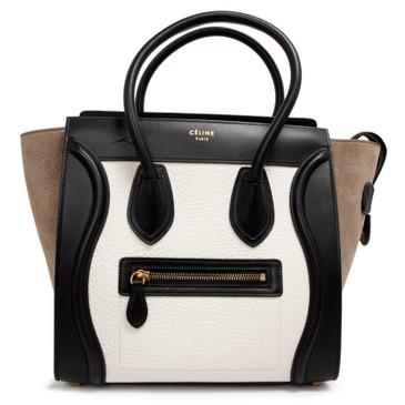 Celine Tricolor Micro Luggage Tote