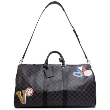 Louis Vuitton Damier Graphite My LV World Tour Keepall Bandouliere 55