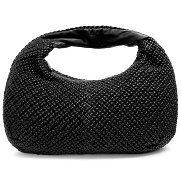 Bottega Veneta Black Nappa Mini Ponza Large Belly Hobo