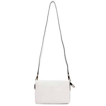 Givenchy White Goatskin & Suede Cross 3 Crossbody Bag