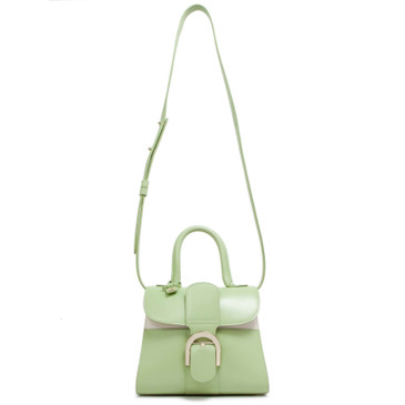 Delvaux Mint Calfskin Mini Brillant Satchel