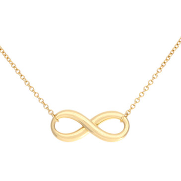 Tiffany & Co. 18K Yellow Gold Infinity Pendant Necklace