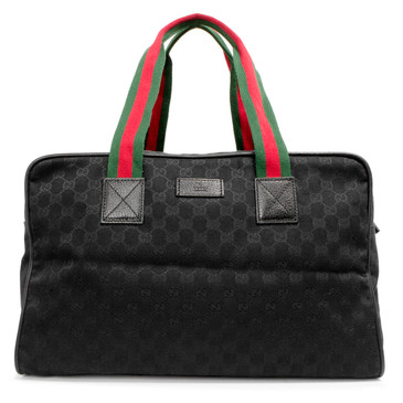Gucci Black GG Canvas Collapsible Carry-On Duffel