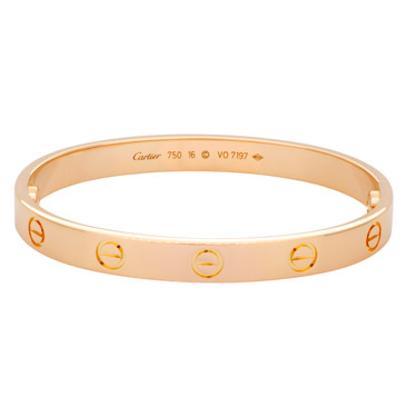 Cartier 18K Pink  Gold   Love Bracelet