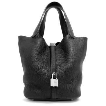 Hermes Black Clemence Picotin Lock 22