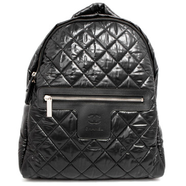 Chanel Black Quilted Nylon Cocoon Backpack