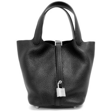 Hermes Black Clemence Picotin Lock 18