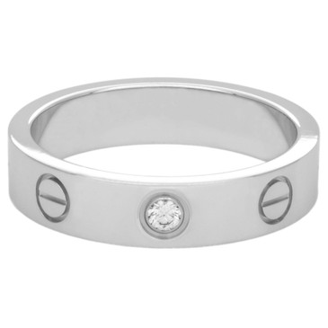 Cartier 18K White Gold Diamond Love Wedding Band