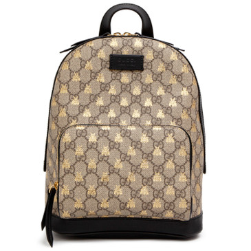 Gucci GG Supreme Bees Print Backpack