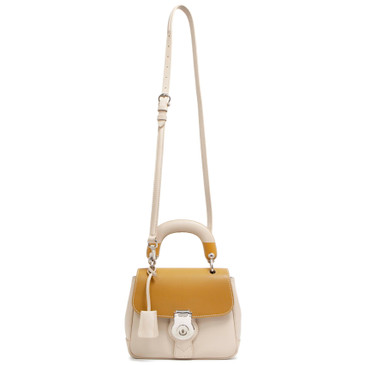 Burberry Beige Calfskin Small DK88 Top Handle Bag