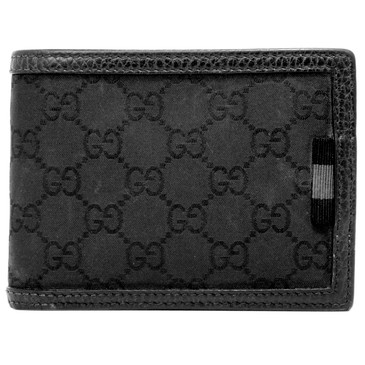 Gucci Black Monogram Bifold Wallet