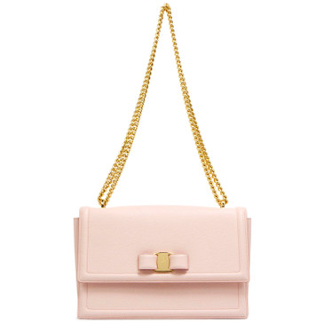 Salvatore Ferragamo Pink Ginny Shoulder Bag