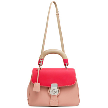 Burberry Pink Calfskin Medium DK88 Top Handle Bag